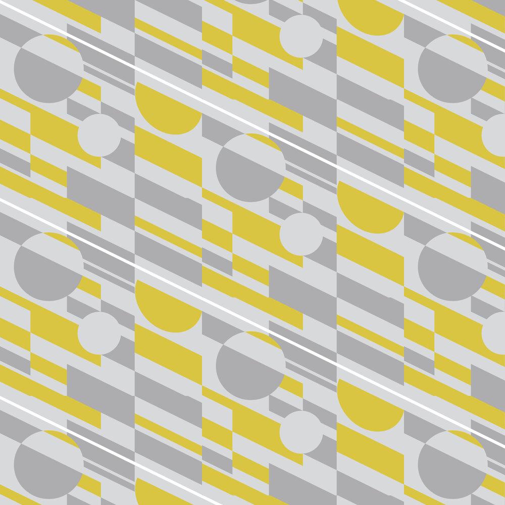 Mini Moderns P.L.U.T.O Mustard Wallpaper - Product code: AZDPT027MU