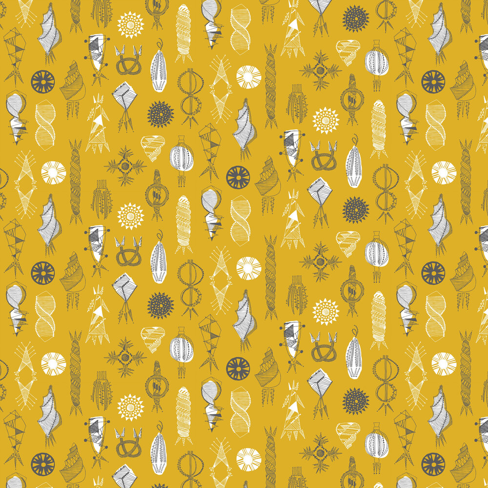 Equinox Wallpaper - Mustard - by Mini Moderns