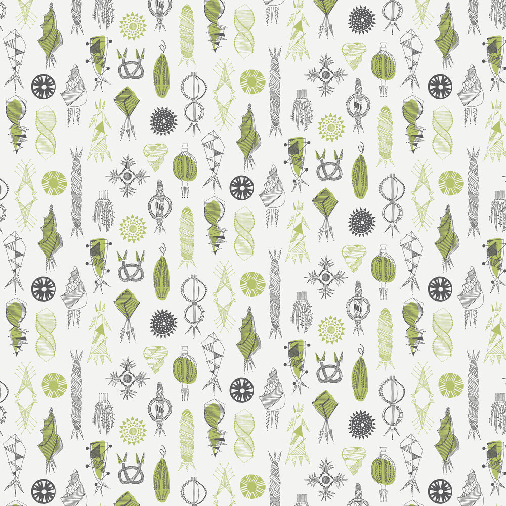 Equinox Wallpaper - Asparagus - by Mini Moderns