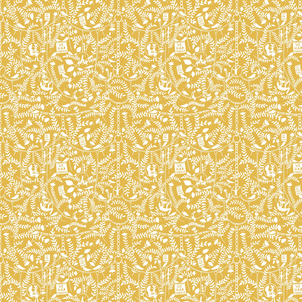 We Had Everything Wallpaper - Mustard - by Mini Moderns