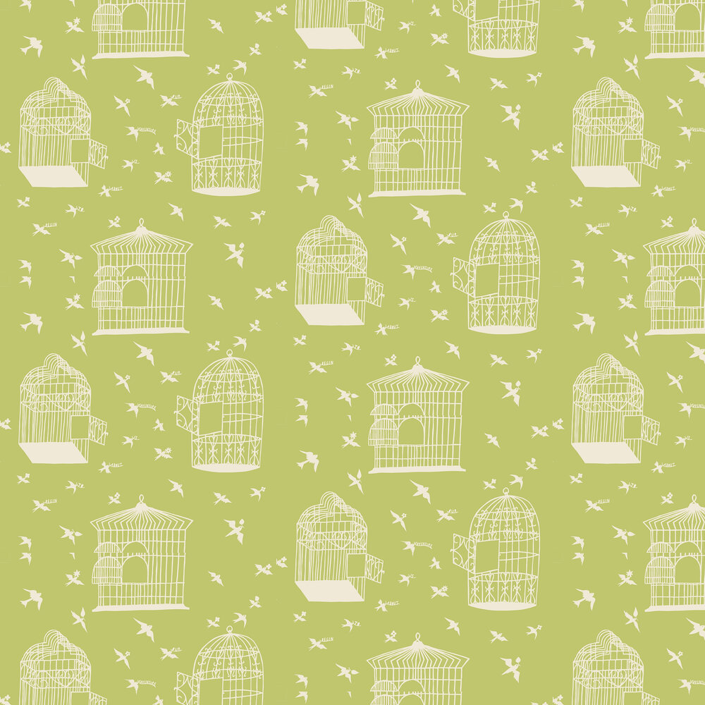 Our Adventure Wallpaper - Afternoon Green - by Mini Moderns