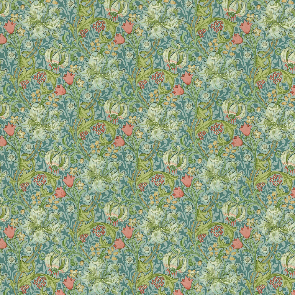 Morris Golden Lily Mineral Wallpaper - Product code: WM8556/3