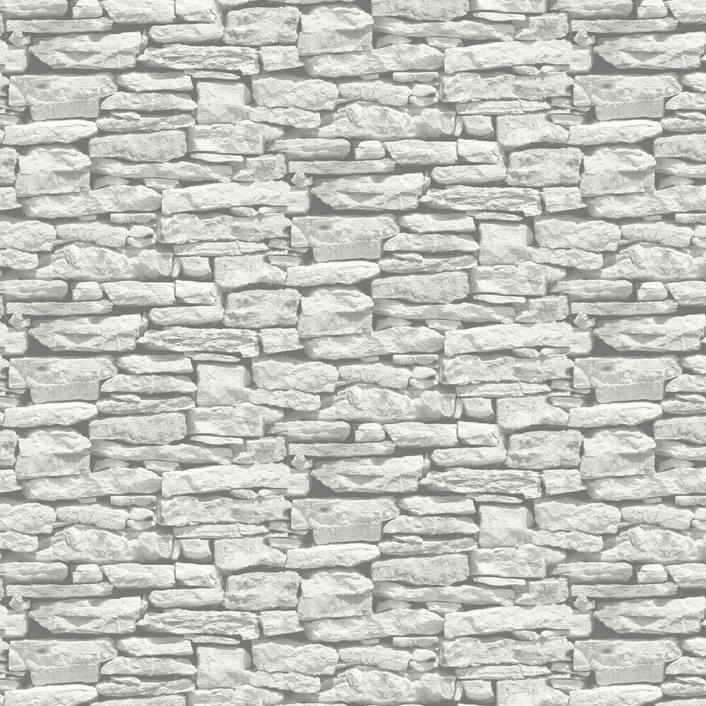 Moroccan Wall Wallpaper - White - by Arthouse