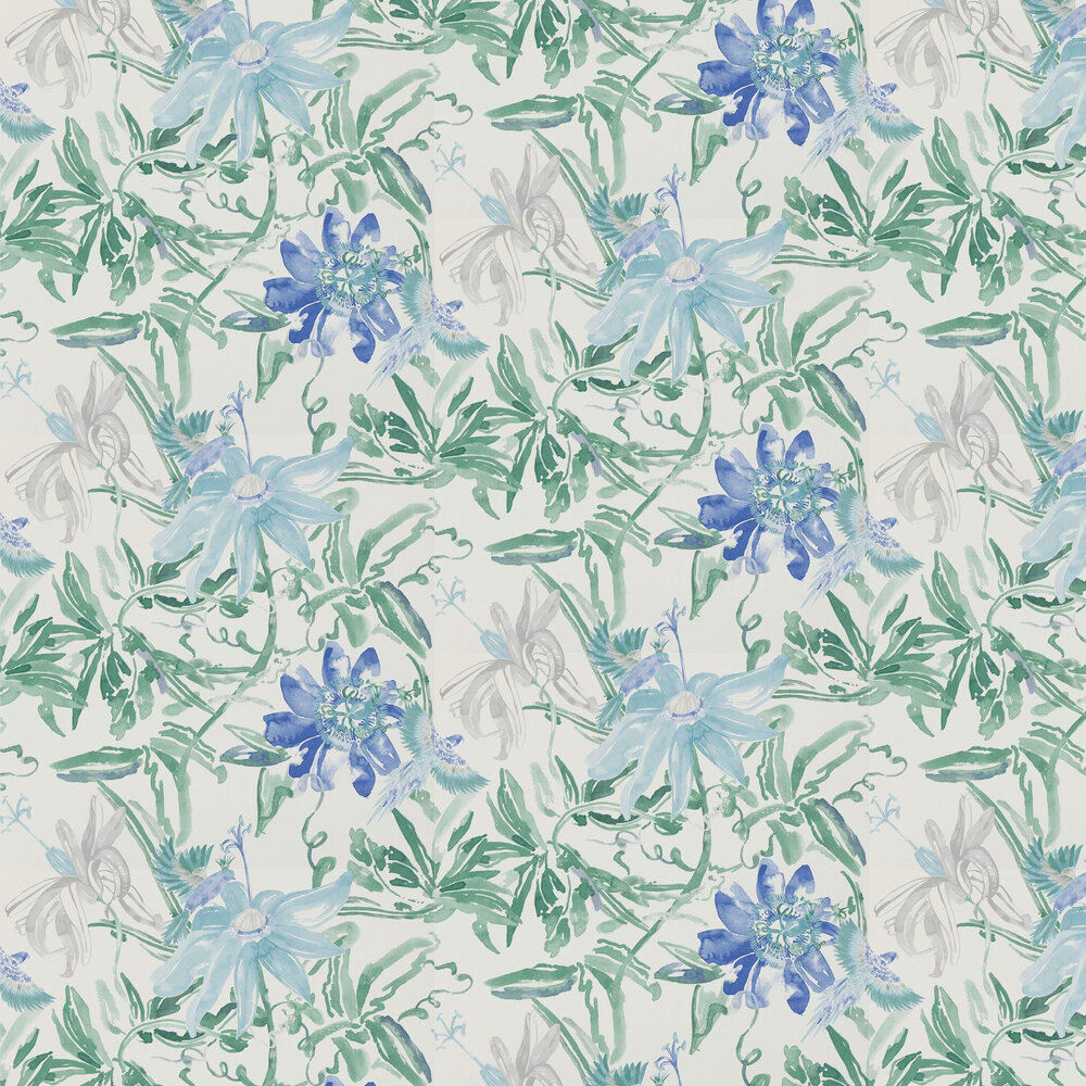 Flowers Wallpaper - Blue - by Coordonne
