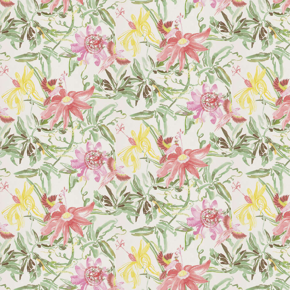Flowers Wallpaper - Red - by Coordonne