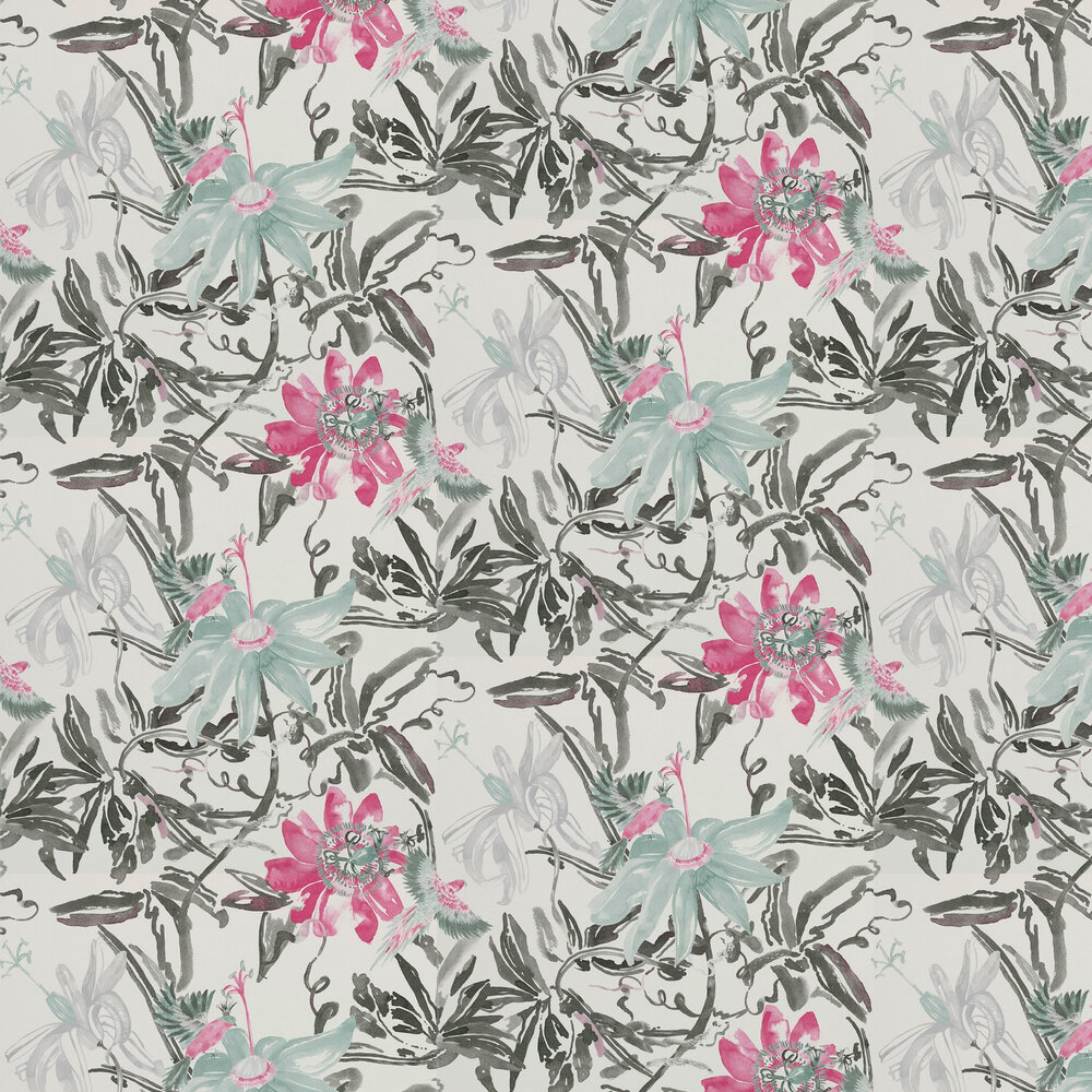 Coordonne Flowers Silver Wallpaper - Product code: 4800035
