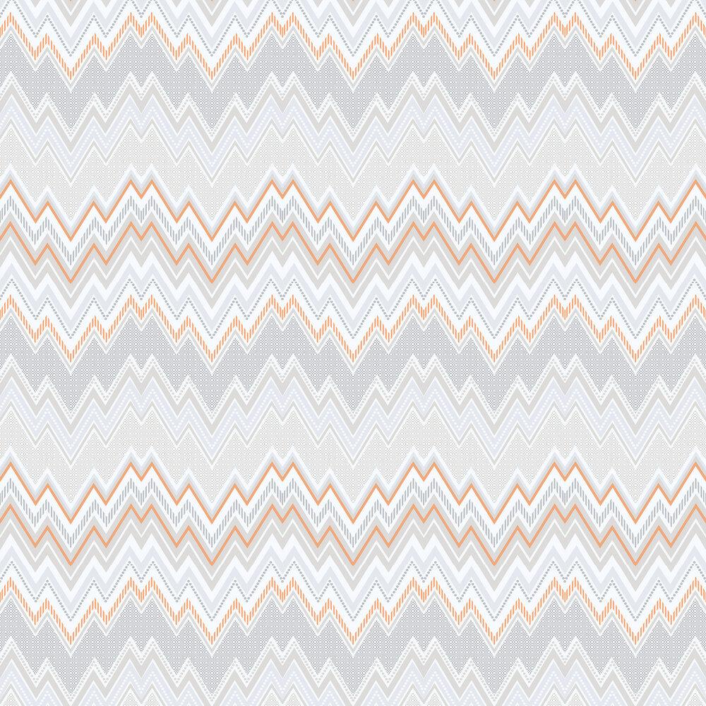 Galerie Tempo Zig Zag Orange Wallpaper - Product code: G56337