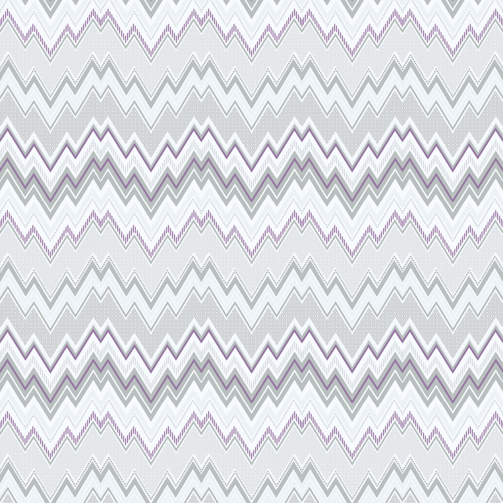 Galerie Tempo Zig Zag Purple Wallpaper - Product code: G56338