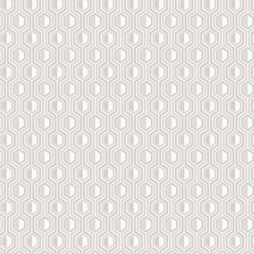 Galerie Hexagon Beige Wallpaper - Product code: G56344