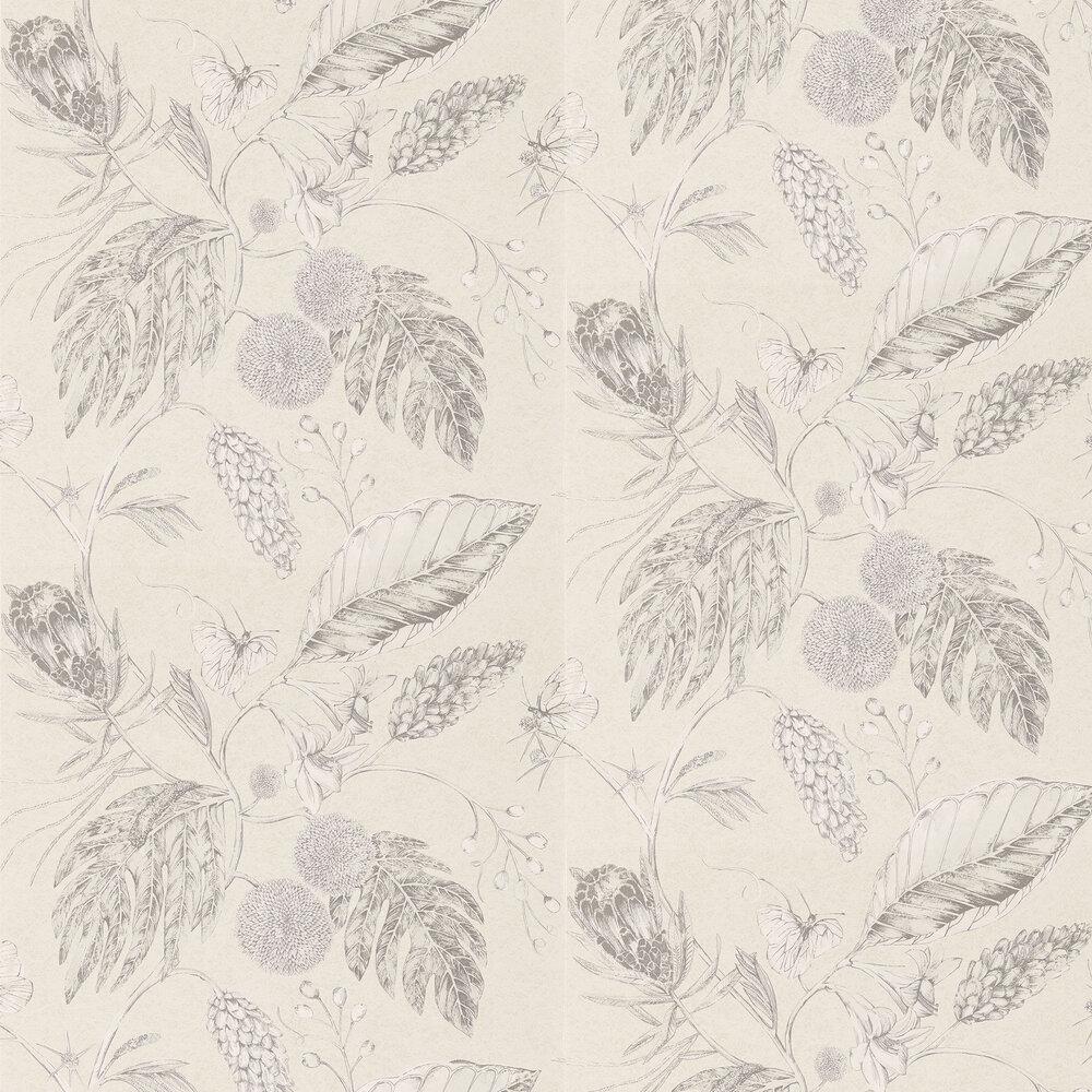 Amborella Wallpaper - Ivory - by Harlequin