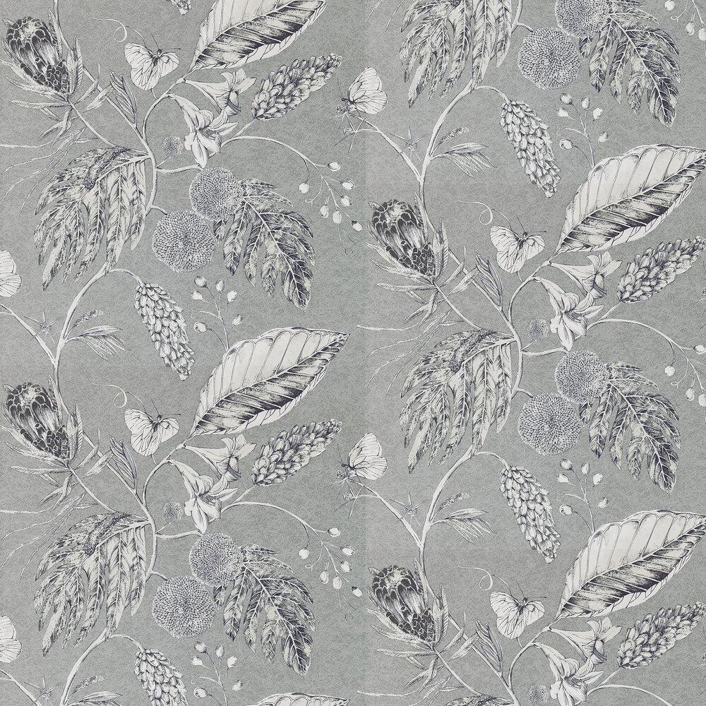 Amborella Wallpaper - Steel - by Harlequin