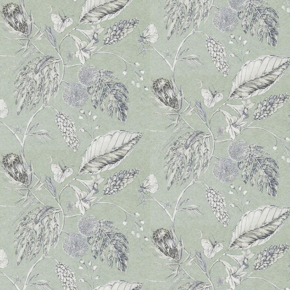 Amborella Wallpaper - Seaglass - by Harlequin