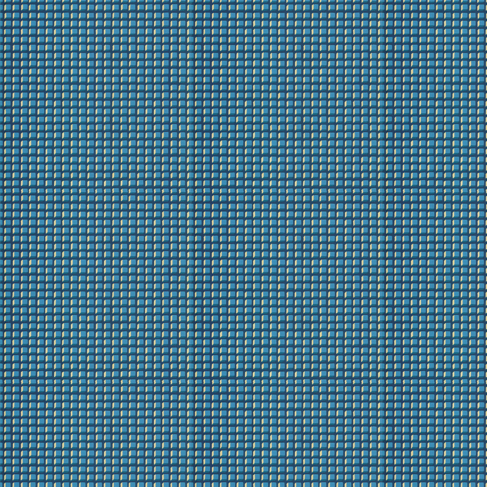 Cole & Son Mosaic Blue and Gold Wallpaper - Product code: 105/3016