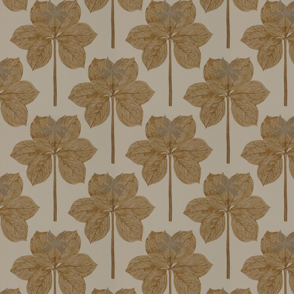 Lovers Knot Wallpaper - Pebble - by Harlequin