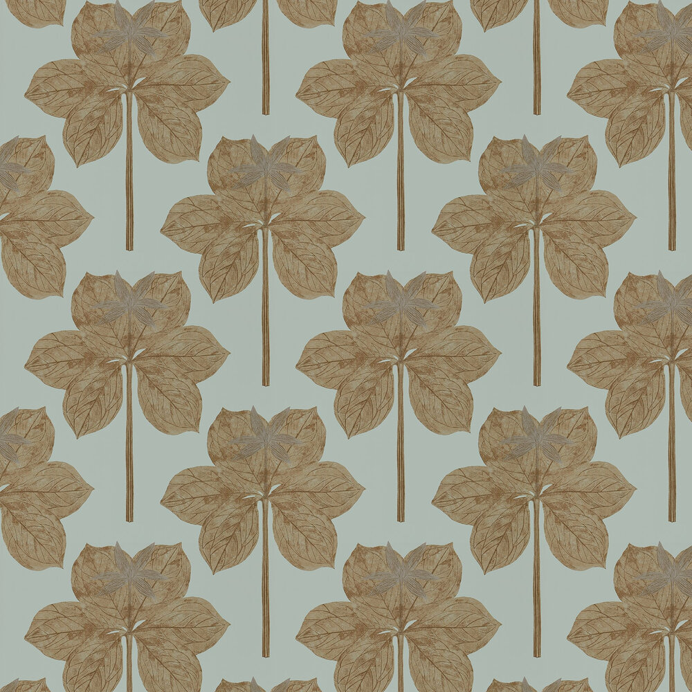 Lovers Knot Wallpaper - Seaglass - by Harlequin