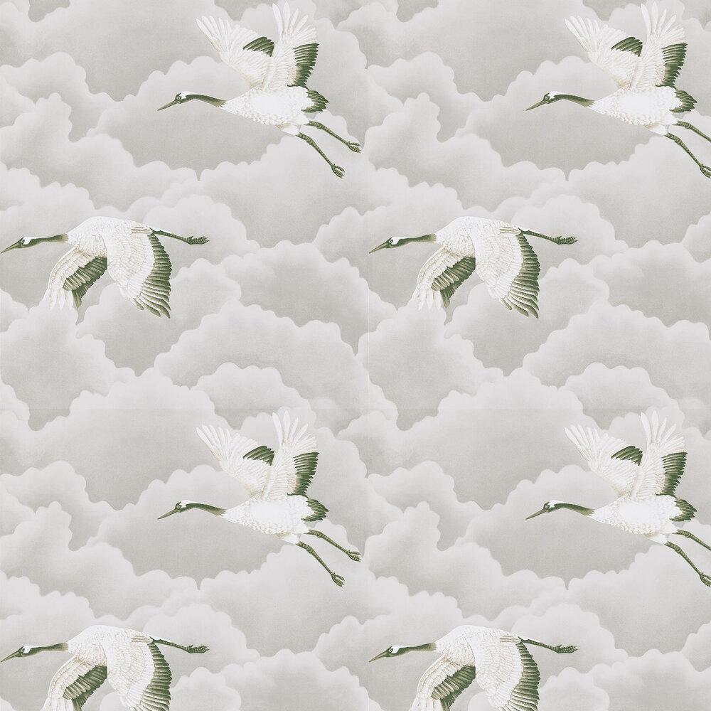 Cranes In Flight Wallpaper - Platinum - by Harlequin