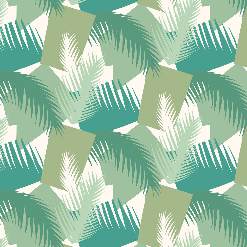 Cole & Son Deco Palm Green Wallpaper - Product code: 105/8037