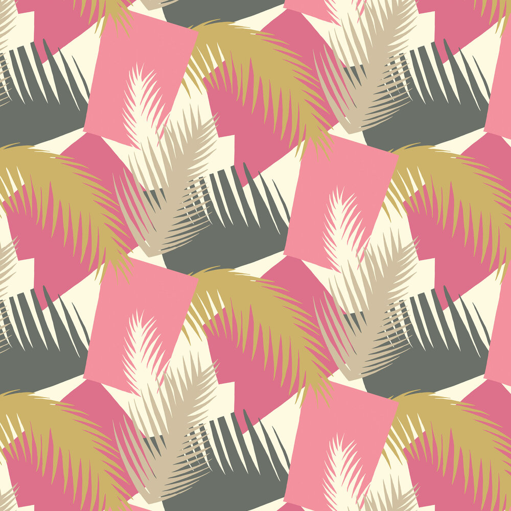 Cole & Son Deco Palm Pink Wallpaper - Product code: 105/8038