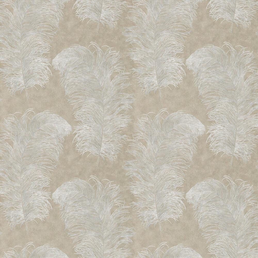 Operetta Wallpaper - Pebble - by Harlequin