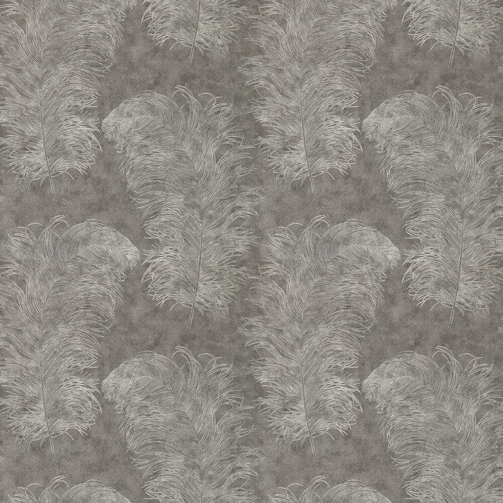 Operetta Wallpaper - Graphite - by Harlequin