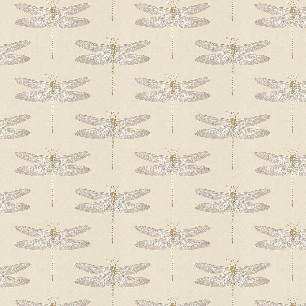 Demoiselle Wallpaper - Shell - by Harlequin