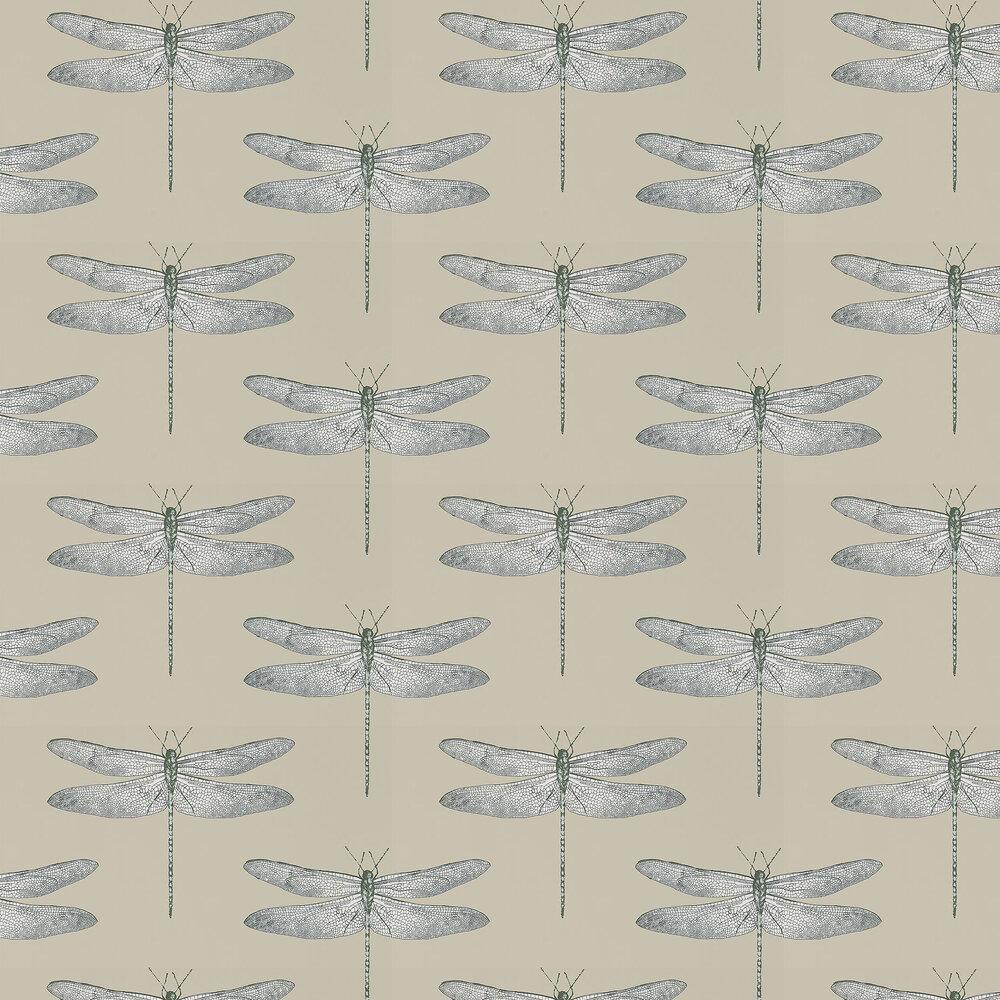 Demoiselle Wallpaper - Jute/ Slate - by Harlequin