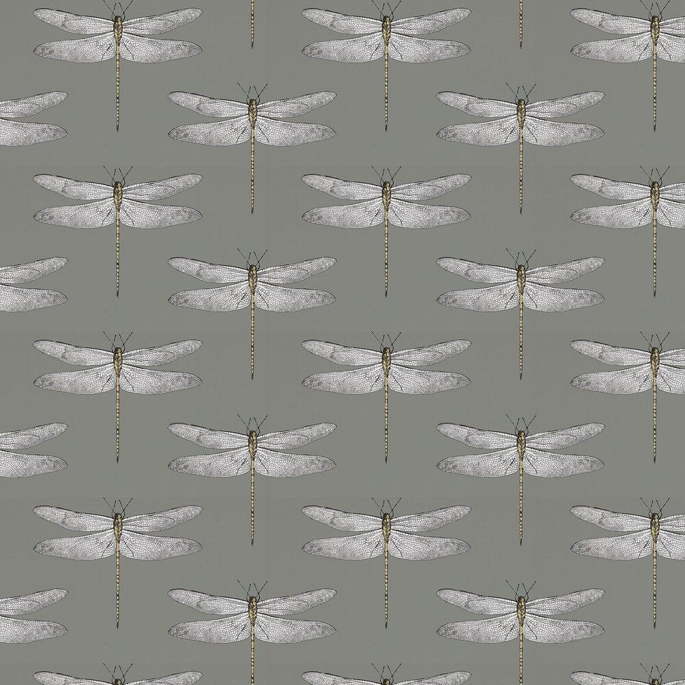 Demoiselle Wallpaper - Graphite/ Almond - by Harlequin