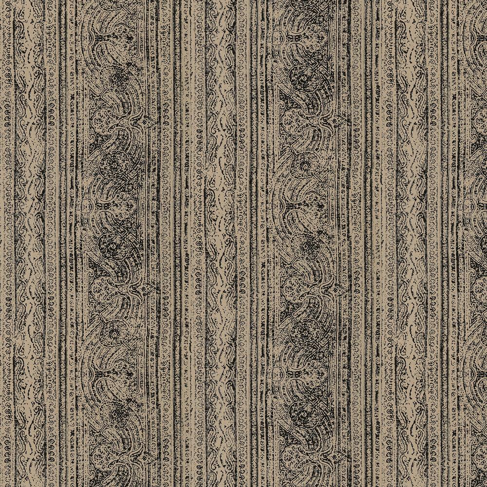 Odisha Wallpaper - Nutmeg/Onyx - by Harlequin