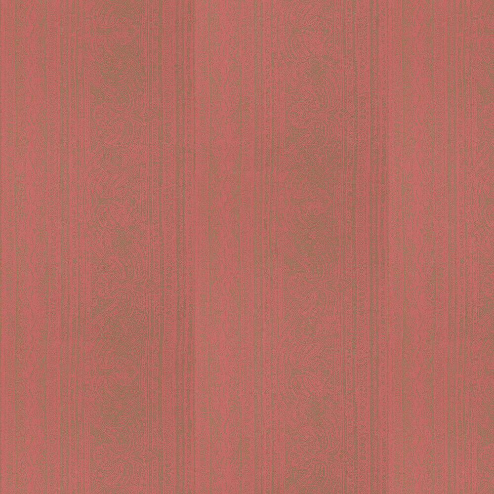 Odisha  Wallpaper - Coral/Antique Gold - by Harlequin