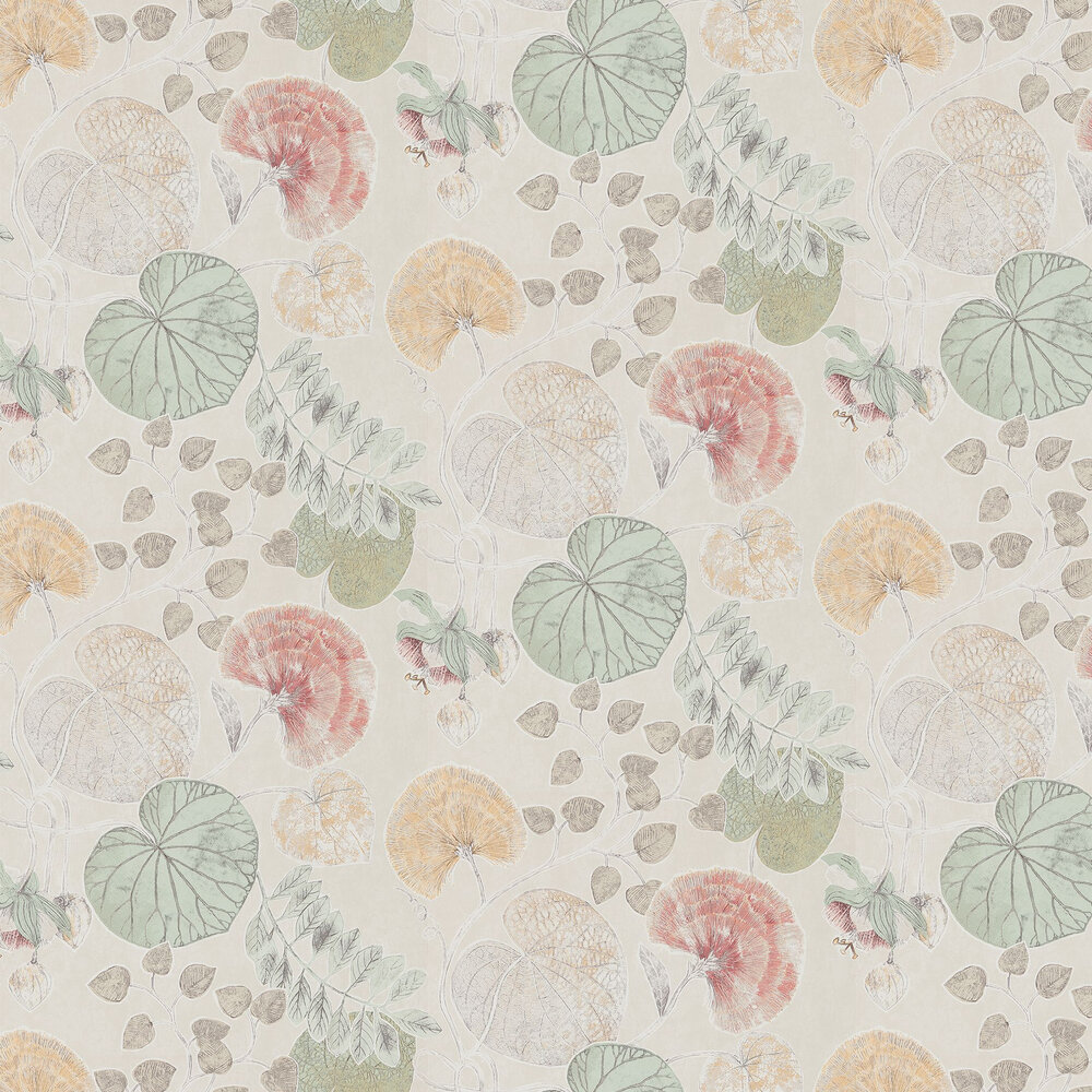 Dardanella By Harlequin Coral Mint Wallpaper Wallpaper Direct