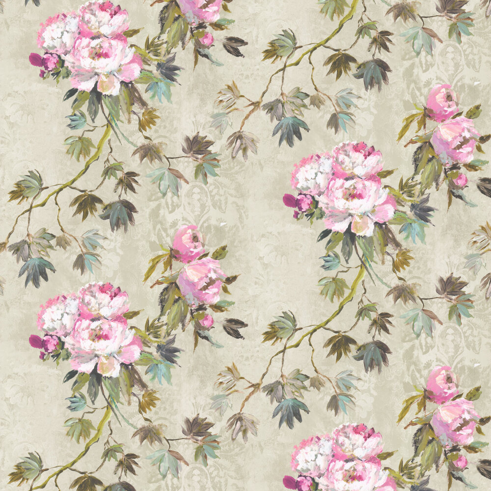 Floreale Wallpaper - Natural - by Designers Guild