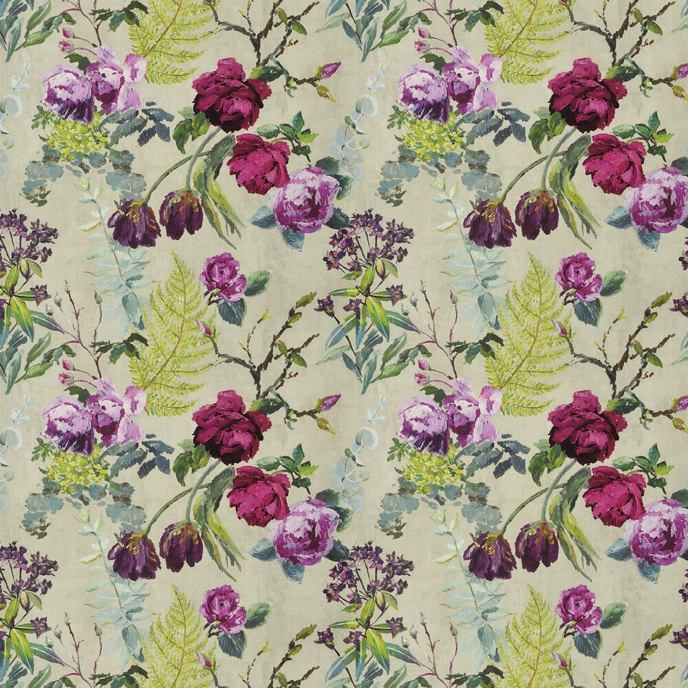 Tulipani Wallpaper - Linen - by Designers Guild