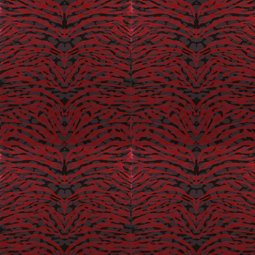 Pantigre Wallpaper - Papaye - by Christian Lacroix