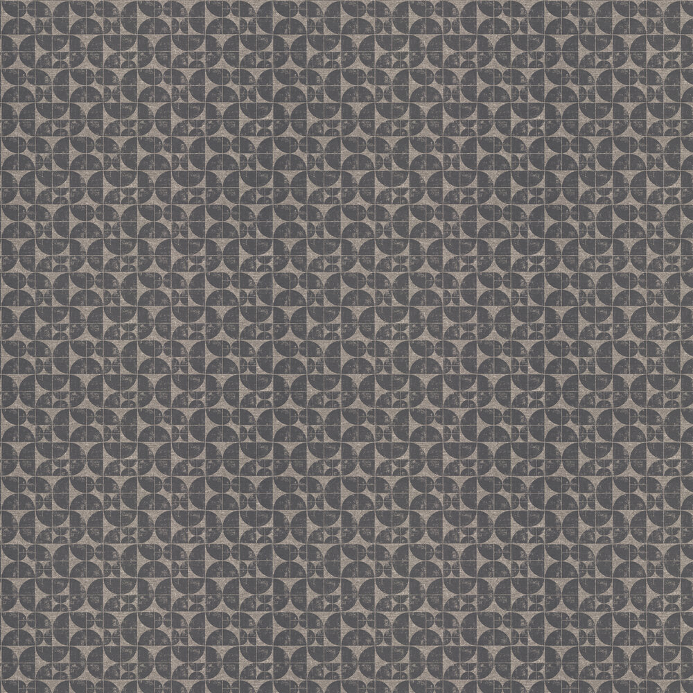 Acton Wallpaper - Charcoal - by Ian Mankin