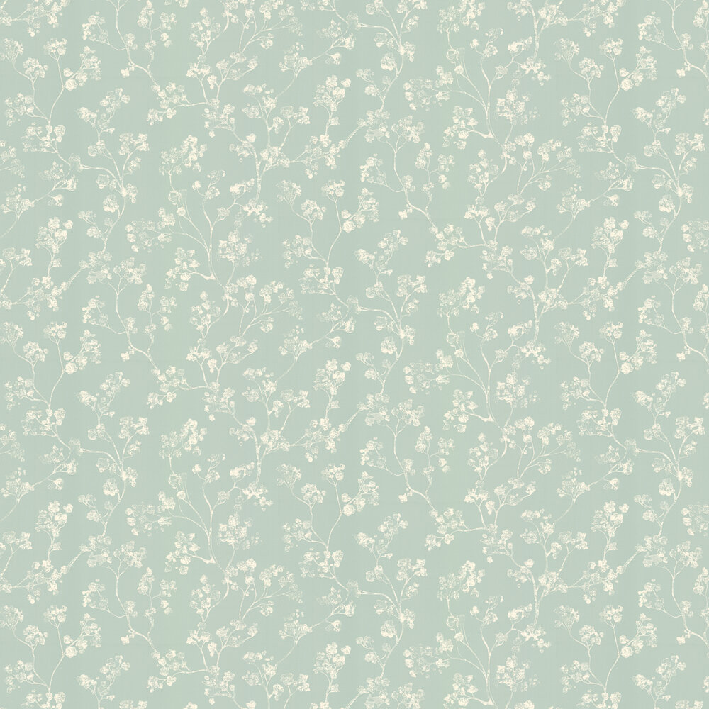 Ian Mankin Kew Mint Wallpaper - Product code: WCKEWMIN