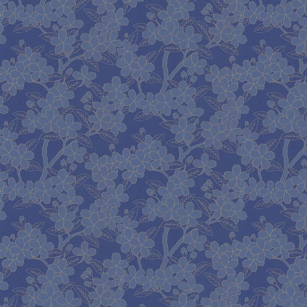 Little Greene Camellia Smalt Wallpaper - Product code: 0288CASMALT