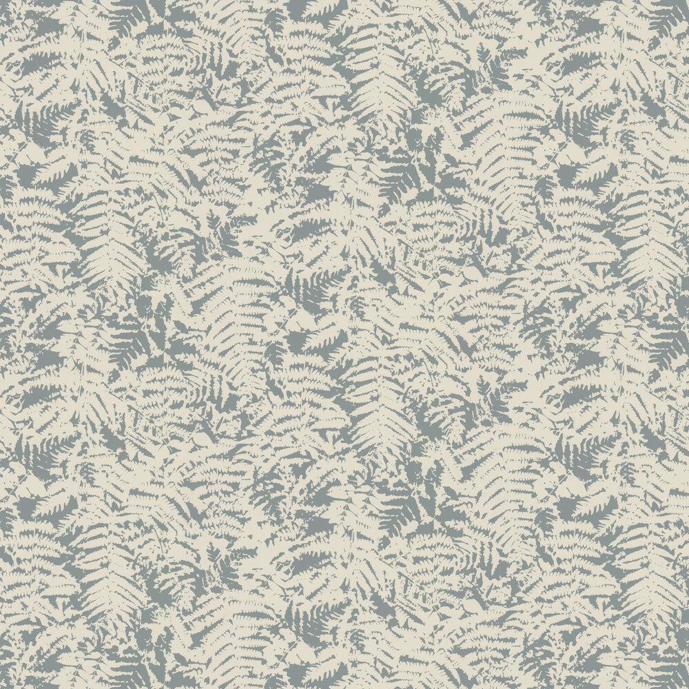 Fern Wallpaper - Sage Blue - by Little Greene