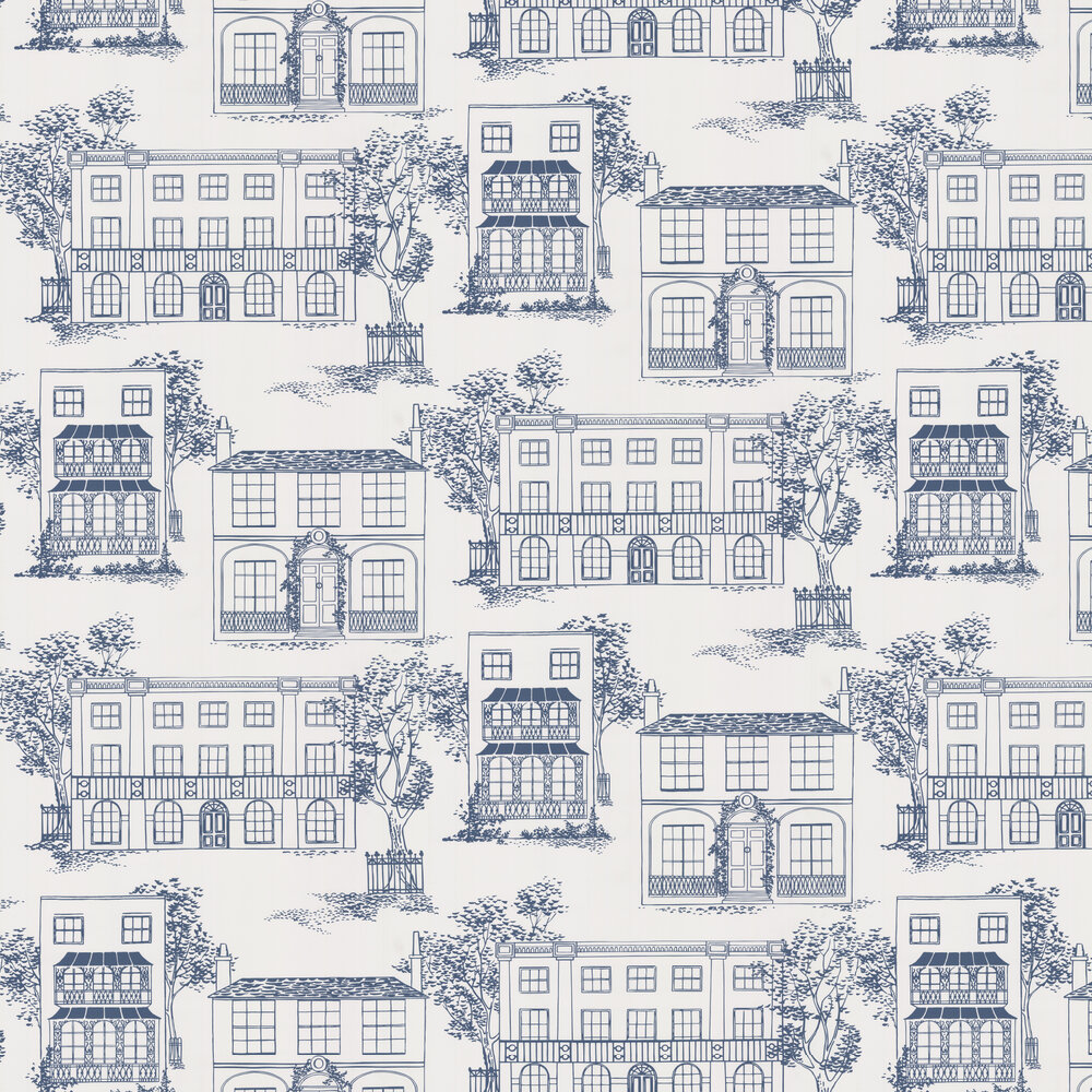 Hampstead Wallpaper - Mid Blue - by Little Greene