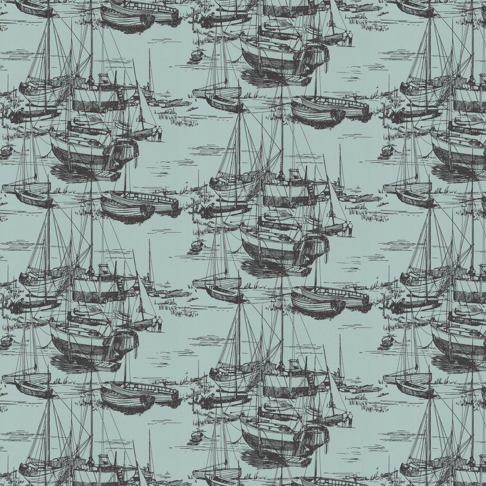 Zingara Wallpaper - Cerulean Sea - by Little Greene