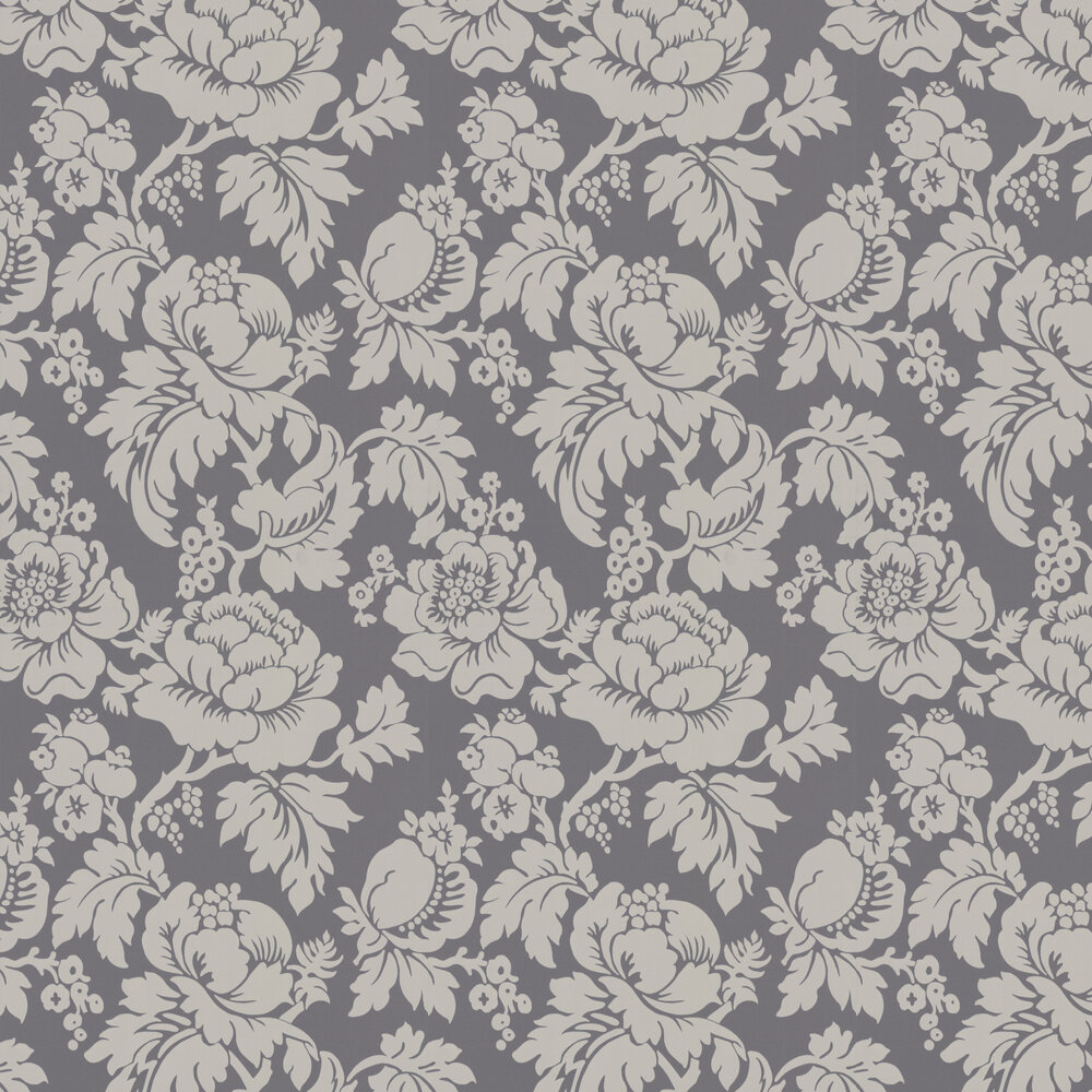 Wildflower Wallpaper - Charcoal - by Ian Mankin