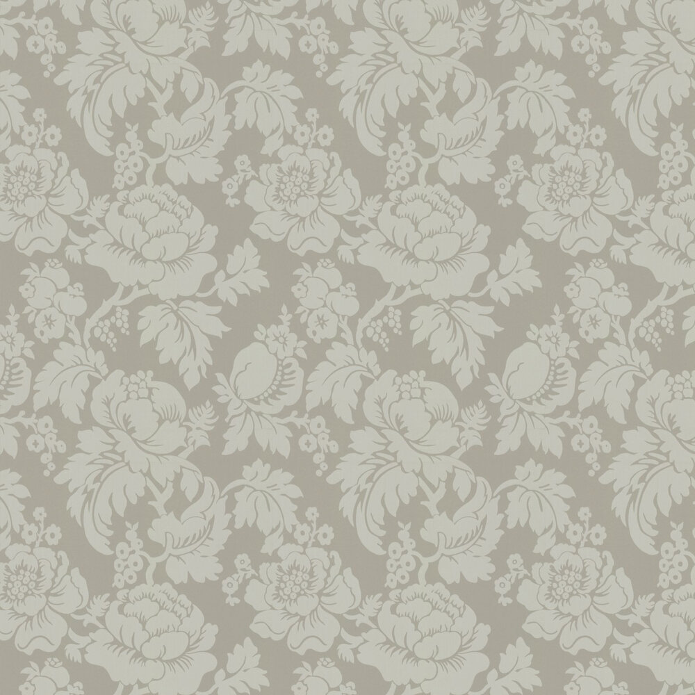 Wildflower Wallpaper - Grey - by Ian Mankin