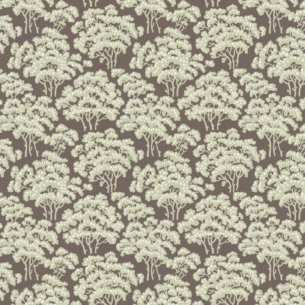 Farrow & Ball Hornbeam Chocolate Brown Wallpaper - Product code: BP 5005