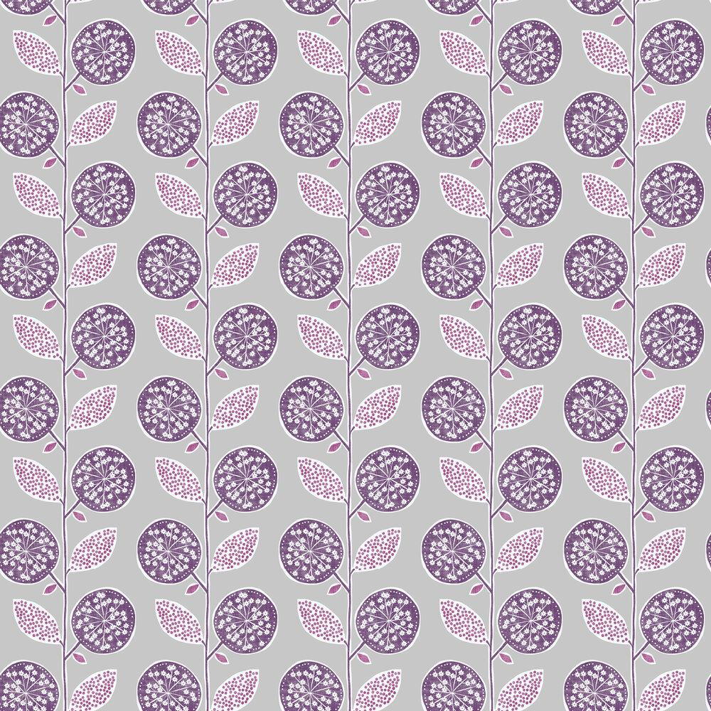 Galerie Dandelion Trail Purple Wallpaper - Product code: G56353