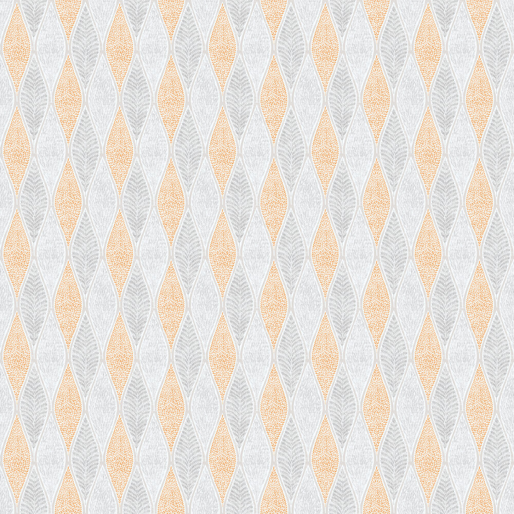 Galerie Leaf Geometric Orange Wallpaper - Product code: G56370