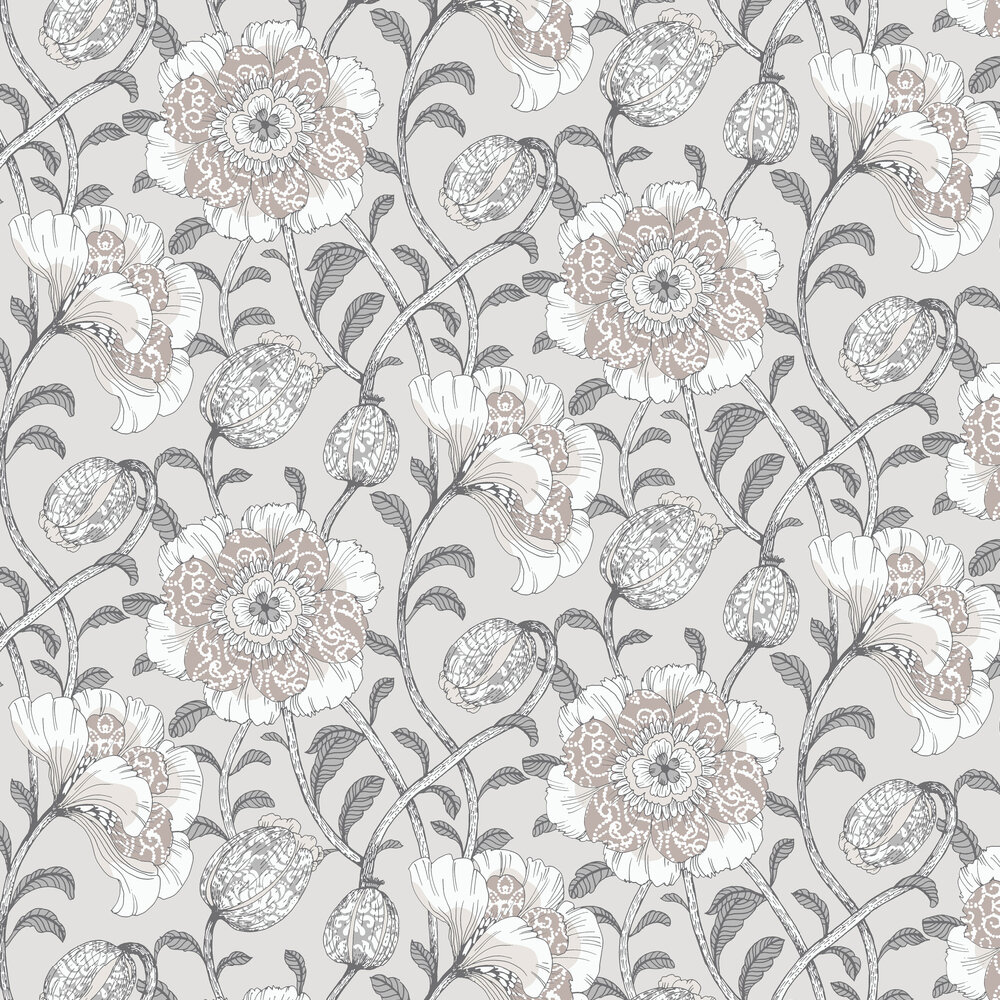 Vallila Muuan Beige / White Wallpaper - Product code: 5138-1