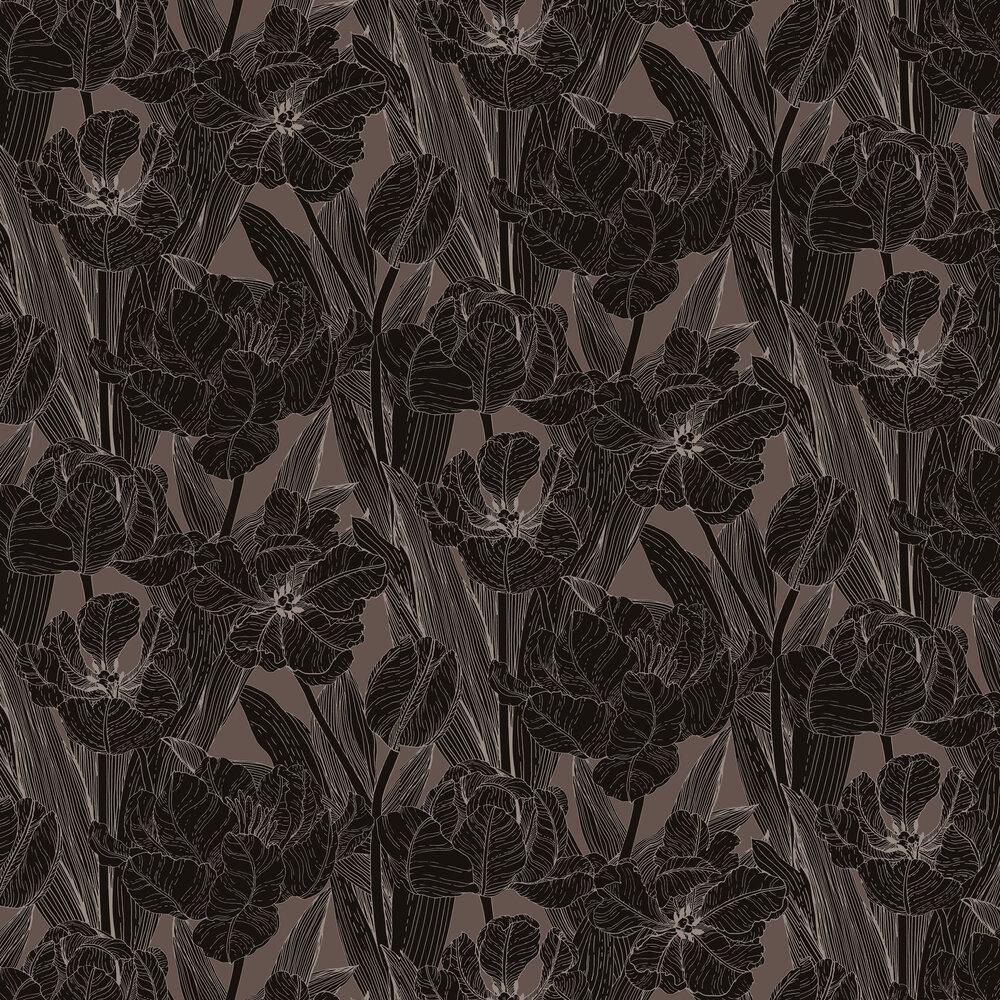 Vallila Jolie Dark Brown Wallpaper - Product code: 5139-2