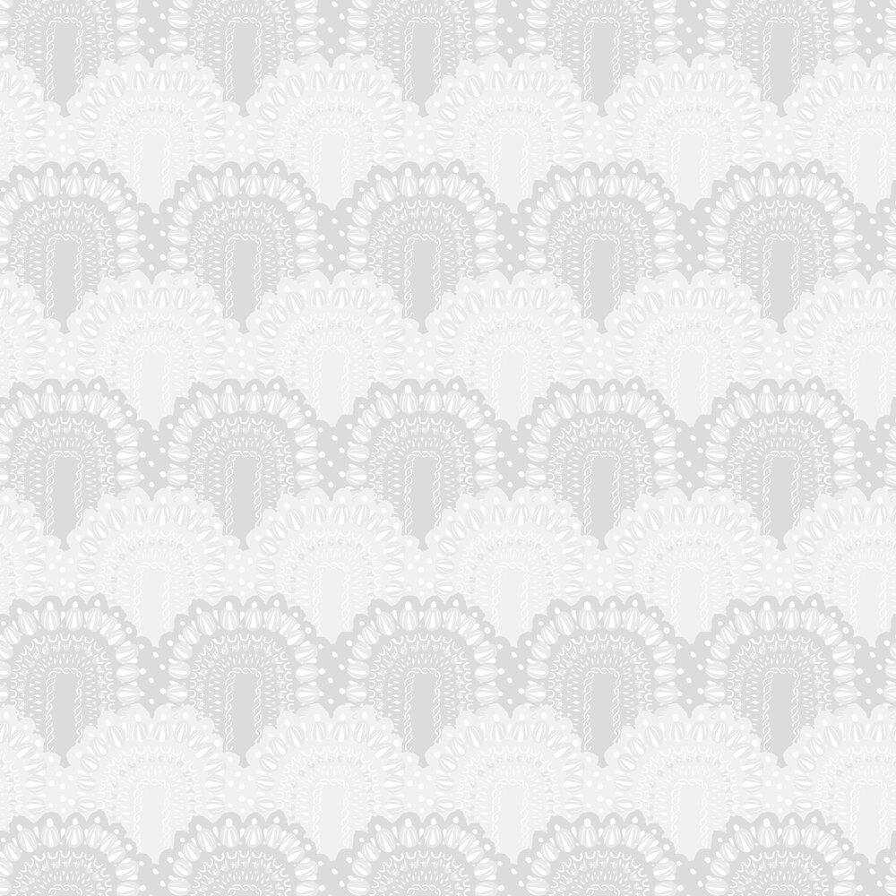 Vallila Loviisa Grey / White Wallpaper - Product code: 5145-1