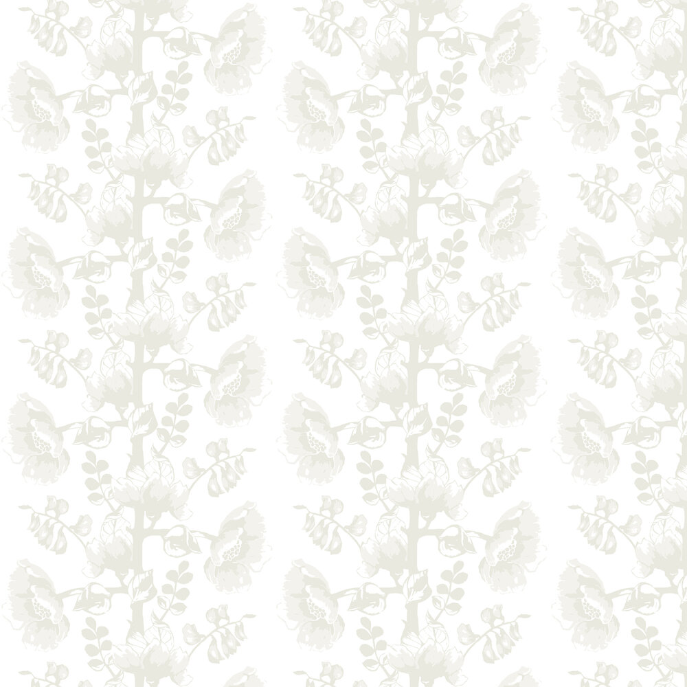 Vallila Silkkisuukko White Wallpaper - Product code: 5146-2