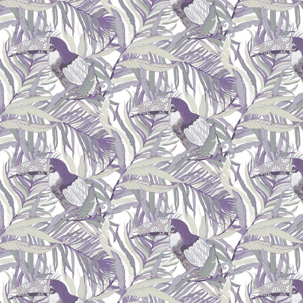 Vallila Kuiske Violet Wallpaper - Product code: 5147-1