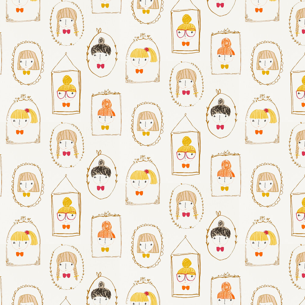 Hello Dolly Wallpaper - Sunshine, Tangerine and Postbox - by Scion